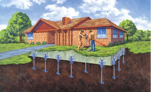 Home foundation repair montana helical piers for House piers